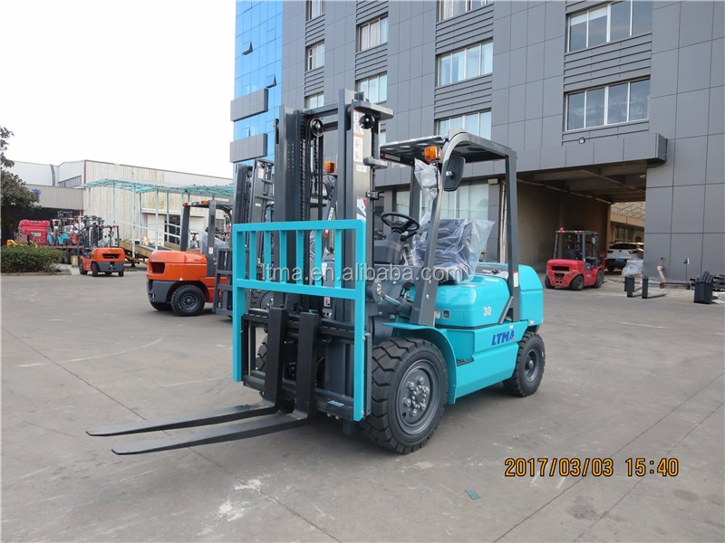 hydraulic transmission 3 ton diesel forklift with 2 stage mast