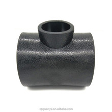 All size black color socket welding pipe fitting hdpe material reducing plastic tee