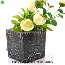 Customized Signle Square Round Bottle Glass Flowers Vases