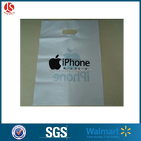 Apple mobile electronics shopping packaging bags shop with die cut hole