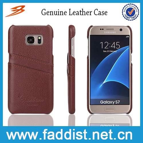 Factory OEM Genuine Leather Back Cover Case for Samsung Galaxy S7
