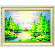 Nature scenery design oil diy paint by numbers chinese painting