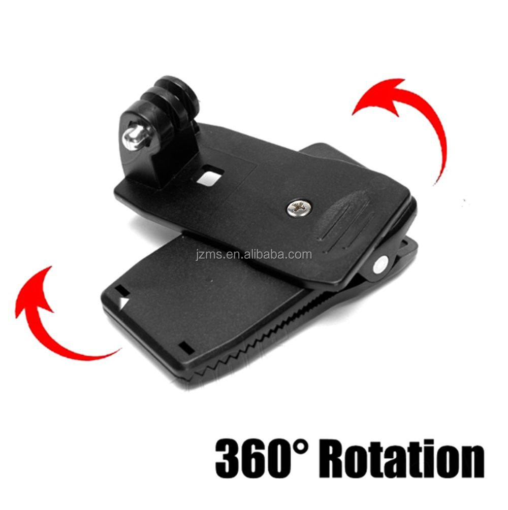360 Degree Rotatable Backpack Travel Quick Release Clamp Cap Clip Hat Mount + Screw for Gopros Camera