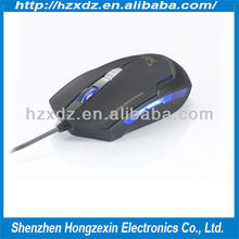 2013 best selling full size ergonomic 3D 2.4g wired optical mouse/Optical Wired USB 2.0 Mouse Glowing mouse