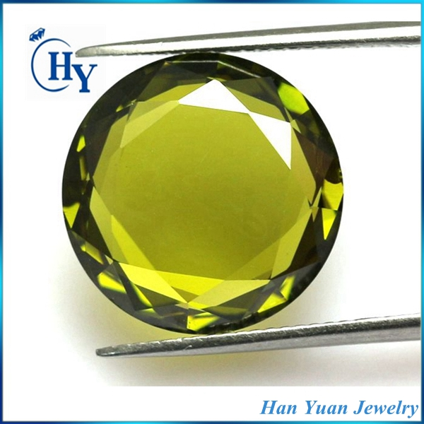 Loose round shape double flat back cubic zirconia for jewelry