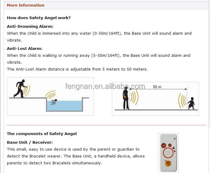 Pet baby Anti-Drowning Alarm - Water Immersion Alarm - Wristband Pool Alarm