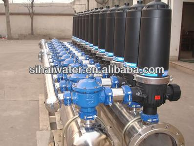 Swimming pool water treatment machine, disc filters for swimming pool water purification