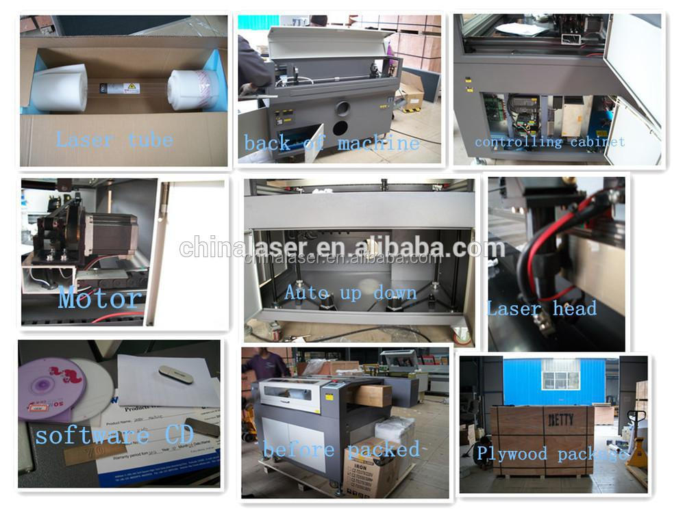 plywood laser cutting machine LC1512 / 150W for sale