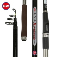 GW 2019 new style telescopic surf casting fishing rod wholesale high grade carbon fishing rod