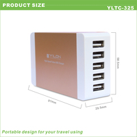 2015 factory price 5v 8a 5 usb table phone charger