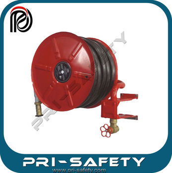 "Swing type fire hose reel with 1""x30m black hose"