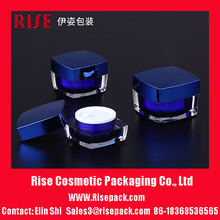 Square Shape Acrylic Cosmetic Jar For Cosmetic Packaging