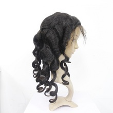 Alibaba tangle shedding free wholesale brazilian human hair full lace wig