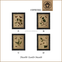 Butterfly Pattern Rustic Handy Wall Glass Painting Design
