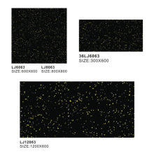 cheap bathroom Black granite kitchen polished floor Tile LJ6063