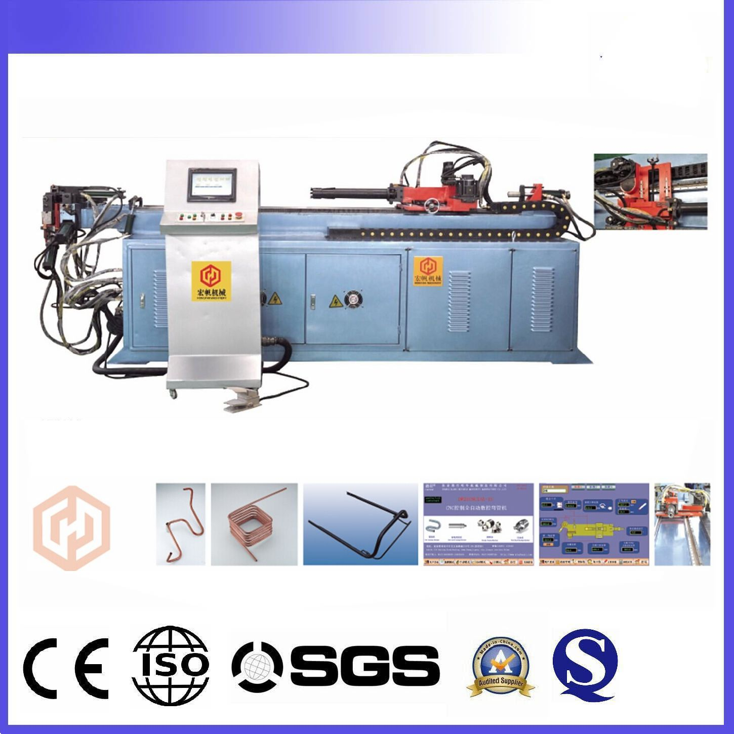 CNC automatic steel and iron round bar bender