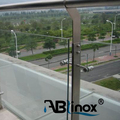 China supplier ABLinox simple stairs handrail bracket/stainless steel fence post for prefab metal stair railing