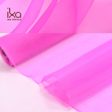 Rose Pink Eco Friendly Woven Transparent Shanghai 100 Pure Silk Organza Silk Fabric