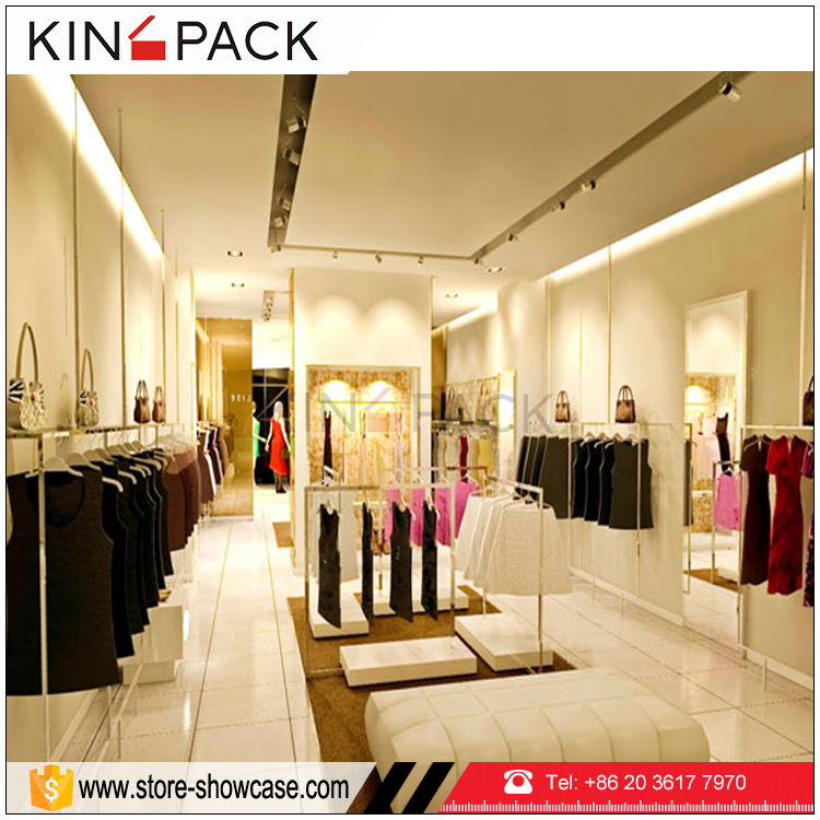 Fashion high quality clothing display racks for store furniture design