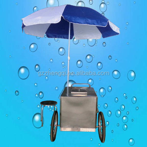Hot sale mobile popsicle ice cream push cart