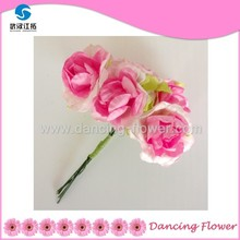Mulberry Paper Birthday Flower Mini Pink Rose Bouquet (PFOP-08)