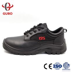 black low cut platform military shoes for men work foot protection