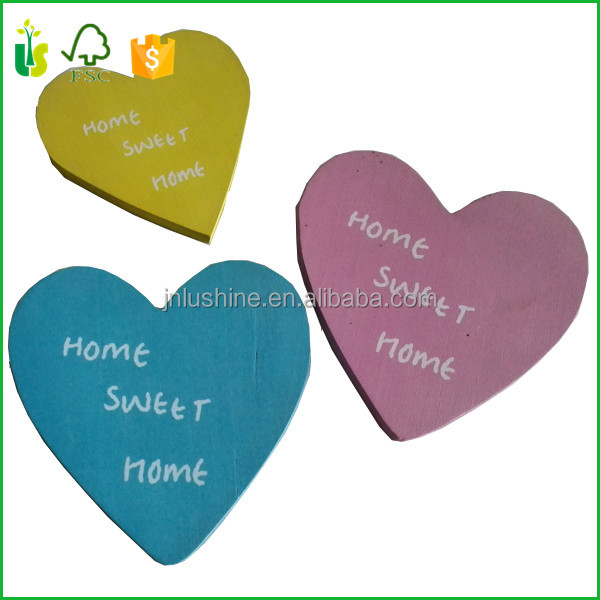 Hang Tags Craft WOOD LOVE HEART DECOR WEDDING GIFT TAGS CRAFT
