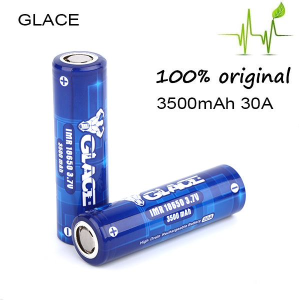Low self discharge glace 3500mah 3.7v cylindrical li-ion battery