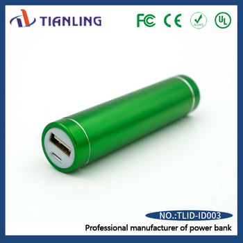 Hot selling power bank emergency mobile phone charger green