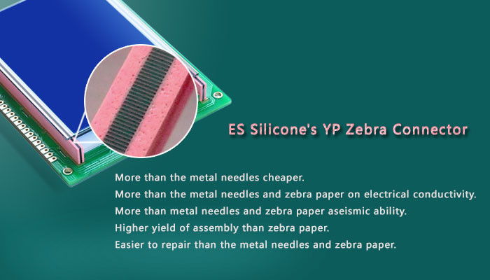 Conductive Zebra and Elastomer Connector Silicone LCD Rubber Connector
