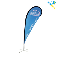 Custom made cheap teardrop banner flag for advertising