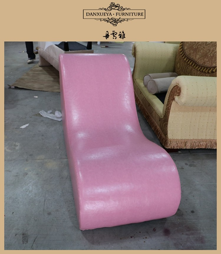 Danxueya Pink Leather Sex Chair Couples Sexy Chaise Lounge