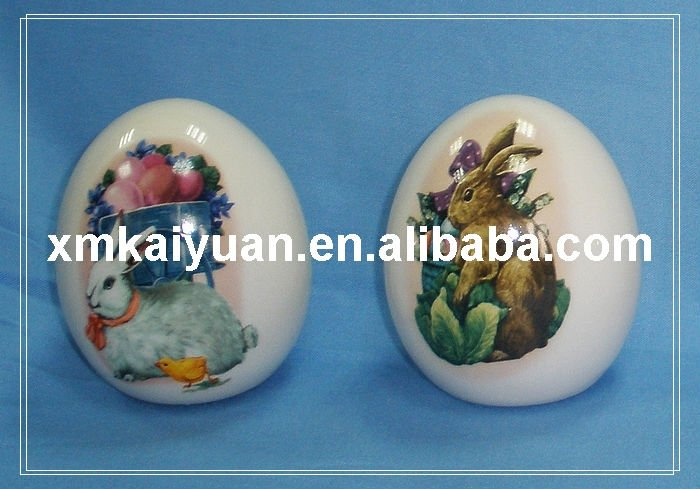easter ceramic egg(113-073-1)