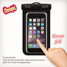 New product promotional clear black PVC waterproof smartphone bag, Eco-friendly security phone waterproof case