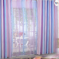 2015 newest design fantasy purple print curtain for wedding decoration flame retardant ready made curtain Hangzhou manufacturer