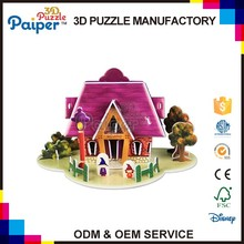 Colorful foam house paper craft model toy for kid puzzle games 3d