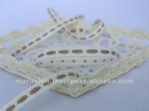 Organic Cotton Ribbon(7006) for garment and bag
