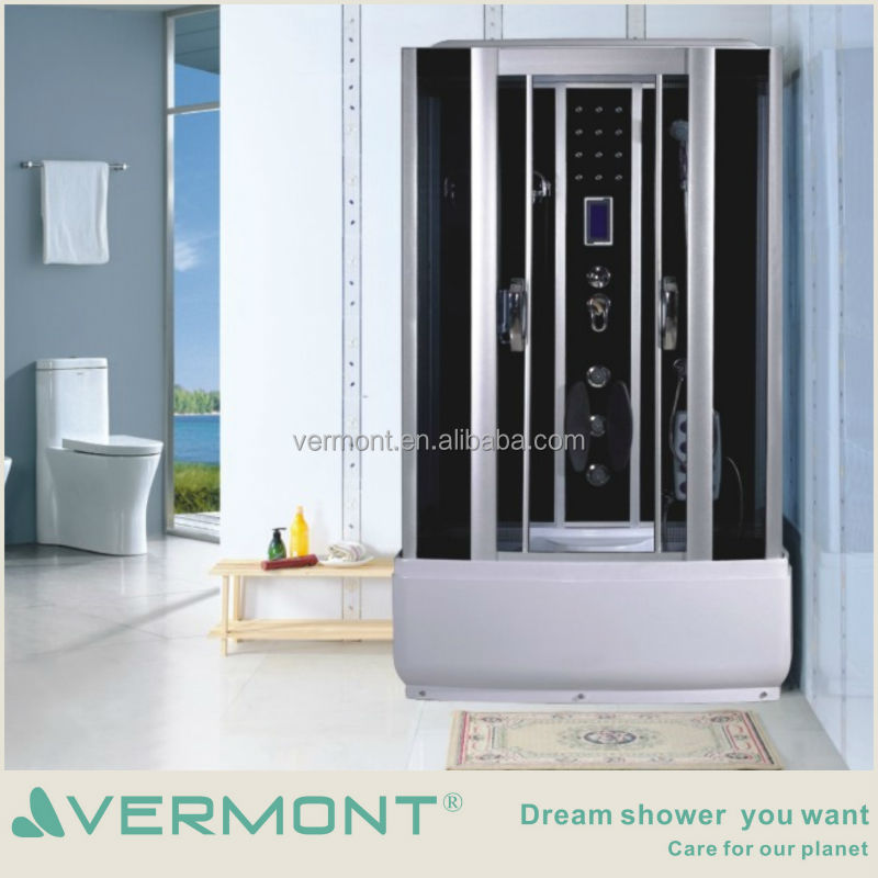 tempered glass one person computer massage outdoor steam shower room for sale