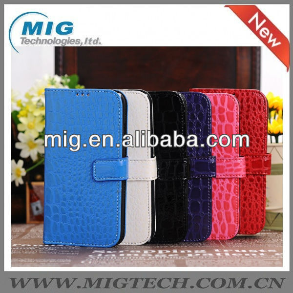 Hot selling wallet leather case for samsung S4, for samsung Galaxy brand case