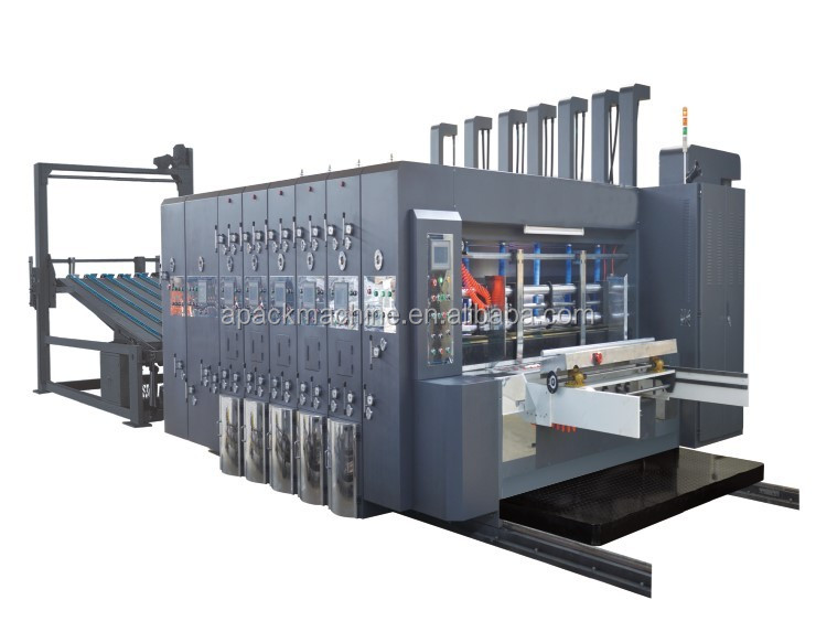 GYK-1 high-speed multi-color corrugated paperboard printing pressing slicing corner carton packing equipment