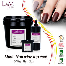 L&M factory price hot selling Wholesale UV LED Matte no wipe Top Coat Nail Gel Polish Bulk package