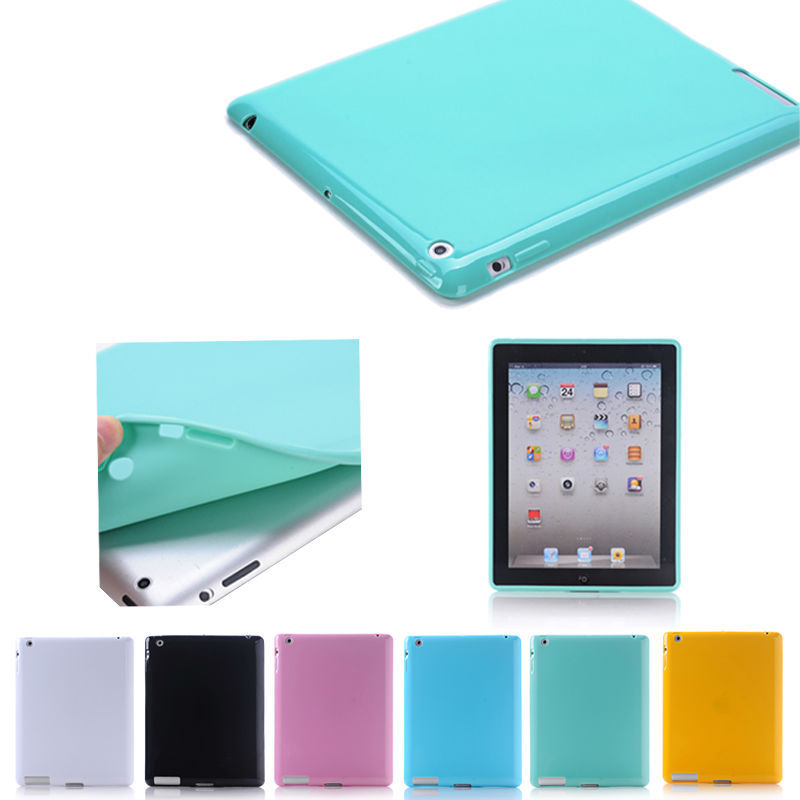 China supplier colorful soft Tpu cover for ipad 2/3/4, For ipad accessories