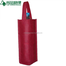 Cheap eco non woven wine bag 1single bottle red wine holder carrier tote