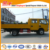 5--6 seats light truck for sale Dongfeng jinba double row cabin small dump truck
