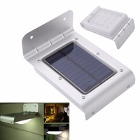 Solar Power Human Body Sensitive Motion Sensor 16 LEDs Light Home Garden Security Lamp Outdoor Water-resistant Wall Lights