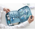 Top Quality Multifunctional Waterproof Oxford cloth travel bag double layer ladies Portable Cosmetic Storage Bag