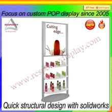 Custom hair salon storage cabinet nail salon display cabinet
