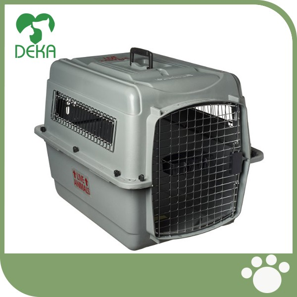 Best Quality Plastic Kennels Wire Door Travel Dog Crate dog kennel wholesale