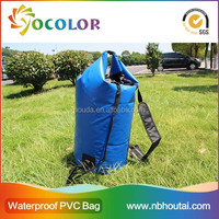 100% waterproof dry bag with shoulder straps for swimming
