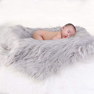 Custom Color Baby Photo Props Soft Fur Quilt Photographic Mat Diy Newborn Baby Photography Wrap Blanket